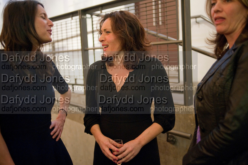 ORIANA ELIA;; LUCY COHU; KERRY FOX, Press night for Edwards Albee's A Delicate Balance at the Almeida Theatre. London. 12 May 2011. <br /> <br />  , -DO NOT ARCHIVE-© Copyright Photograph by Dafydd Jones. 248 Clapham Rd. London SW9 0PZ. Tel 0207 820 0771. www.dafjones.com.
