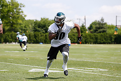 Philadelphia Eagles linebacker Marcus Smith II #90 during the NFL football rookie camp at the teams practice facility on Saturday, May 17, 2014. (Photo by Brian Garfinkel)