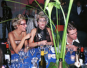 Rebecca Korner, Princess Hermine de Clermont Tonnerre, Ben Elliot. Mr. and Mrs. Andy Wong Chinese Year of the Dragon. Millenium Dome. 29/1/2000.<br />© Copyright Photograph by Dafydd Jones<br />66 Stockwell Park Rd. London SW9 0DA<br />Tel 0171 733 0108. wwwdafjones.com