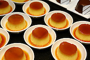 Crème Caramel dessert with caramelized sugar