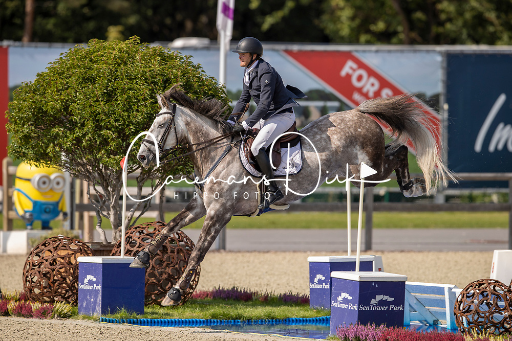 Norris Killian, IRL, Nacco Blue van Essene<br /> Belgian Championship 7 years old horses<br /> SenTower Park - Opglabbeek 2020<br /> © Hippo Foto - Dirk Caremans<br />  13/09/2020