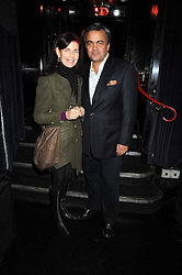 NATHALIE HAMBRO and BALDASSARE LA RIZZA at a party to celebrate the publication of Cloak & Dagger Butterfly by Amanda Eliasch held at the Soho Revue Bar, London on 17th November 2008.