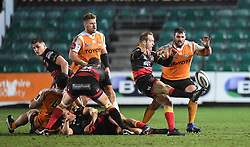 Dragons' Sarel Pretorius<br /> <br /> Photographer Mike Jones/Replay Images<br /> <br /> Guinness PRO14 Round Round 18 - Dragons v Cheetahs - Friday 23rd March 2018 - Rodney Parade - Newport<br /> <br /> World Copyright © Replay Images . All rights reserved. info@replayimages.co.uk - http://replayimages.co.uk