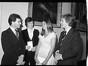 09/08/1979.08/09/1979.9th August 1979.Opening of Irish Patchwork exhibition and Presentation of the Young Designer Awards at Kilkenny Castle. The winners with their awards. They were (from left), Bryan Leech, Enniscorthy, Co Wexford, Stephen Lennon, Palmerston, Dublin, Catherine MacAleavey, Cabinteely, Dublin and Declan O'Donoghue, Monkstown, Co. Cork.