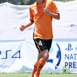 BRISBANE, AUSTRALIA - JANUARY 8: Aaron Reardon of the Roar in action during the round 8 Foxtel National Youth League match between the Brisbane Roar and Perth Glory at AJ Kelly Field on January 8, 2017 in Brisbane, Australia. (Photo by Patrick Kearney/Brisbane Roar)