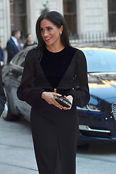 The Duchess of Sussex attends the opening of Oceania at the Royal Academy of Arts in London.