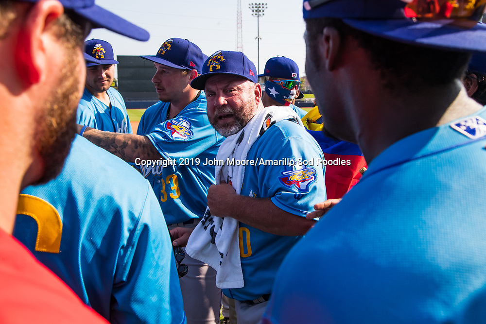 Amarillo Sod Poodles Manager Phillip Wellman after the Sod Poodles won against the Tulsa Drillers during the Texas League Championship on Sunday, Sept. 15, 2019, at OneOK Field in Tulsa, Oklahoma. [Photo by John Moore/Amarillo Sod Poodles]