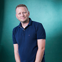 Patrick Ness, the American-born English author of young adult fiction, at the Edinburgh International Book Festival 2015.<br /> Edinburgh, Scotland. 25th August 2015 <br /> <br /> Photograph by Gary Doak/Writer Pictures<br /> <br /> WORLD RIGHTS