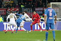 """Il gol dell'1-1 di Riccardo Saponara Empoli<br /> Goal Celebration Empoli<br /> Empoli 26-09-2016  Stadio """"Carlo Castellani""""<br /> Campionato Serie A 2016/2017<br /> Empoli - Milan<br /> Foto Luca Pagliaricci / Insidefoto"""