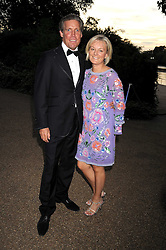 JO MALONE and her husband GARY WILLCOX at the Royal Parks Foundation Summer Party hosted by Candy & Candy on the banks of the Serpentine, Hyde Park, London on 10th September 2008.