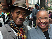 New York, NY-May 31: (L-R) Photographer Mark Blackshear, Member, Kamoinge Photographic Workshop and Photographer/Arts Educator/Author Dr. Deb Willis and Photographer Russell Fredericks Vice President, Kamoinge Photographic Workshop attends the opening reception for the Kamoinge Photographic Workshop exhibition called 'The Black Woman: Power & Grace' exihibition held at the Gregg Galleries at the National Arts Club on May 31, 2018 in New York City.  (Photo by Terrence Jennings/terrencejennings.com)