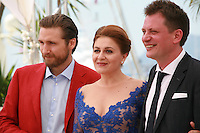 Actor Goran Markovic, actress Nives Ivankovic, director Dalibor Matanic at the Zvizdan (The High Sun) film photo call at the 68th Cannes Film Festival Sunday 17th May 2015, Cannes, France.