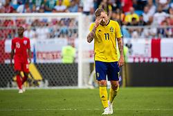 July 7, 2018 - Samara, RUSSIA - 180707 John Guidetti of Sweden looks dejected during the FIFA World Cup quarter final match between Sweden and England on July 7, 2018 in Samara..Photo: Joel Marklund / BILDBYRÃ…N / kod JM / 87755 (Credit Image: © Joel Marklund/Bildbyran via ZUMA Press)
