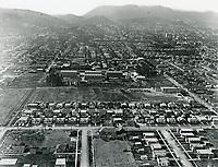 1924 Aerial looking north at Hollywood Studios on Santa Monica Blvd.