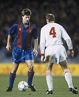 Fotball<br /> Foto: Witters/Digitalsport<br /> NORWAY ONLY<br /> <br /> Michael Laudrup FC Barcelona links, Europapokal, FC Barcelona - Sparta Prag,  Fu§ball, 27.11.1991