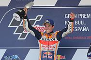 Race winner #93 Marc Marquez, Spanish: Repsol Honda Team during the MotoGP Gran Premio Red Bull de Espana at Circuito de velocidad de Jerez, Jerez De La Frontera, Spain on 4 May 2019.