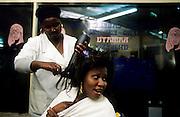 Afro-portuguese ladies hairdresser.