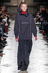 a Model presents Fashion of Vetements, Autumn Winter 2016, Ready to Wear, Paris Fashion Week. EXPA Pictures © 2016, PhotoCredit: EXPA/ Photoshot/ Digital Catwalk<br /> <br /> *****ATTENTION - for AUT, SLO, CRO, SRB, BIH, MAZ, SUI only*****