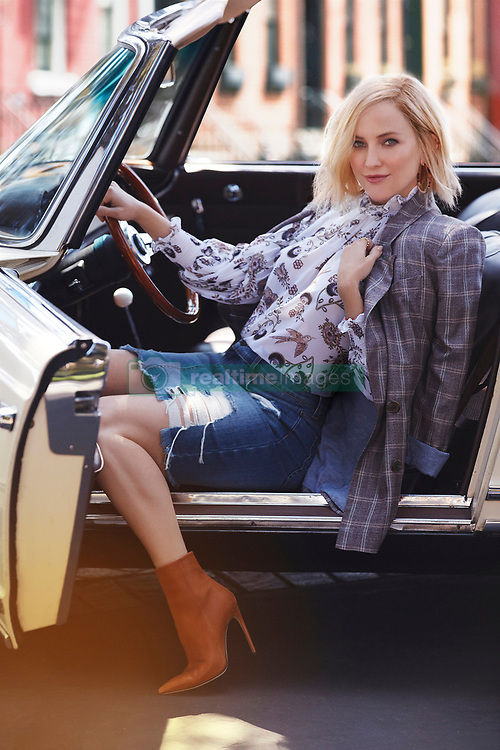 "Kate Hudson puts her pedal to the metal as she adorns classic cars and dons an array of sexy denim ensembles for a new photoshoot. The 39-year-old actress and best-selling author has partnered with women's fashion retailer brand New York & Company, serving as its brand ambassador for the $200 million Soho Jeans collection. As part of the multi-year deal the Almost Famous star is also set to create her own ready-to-wear fashion line with the brand, launching in spring 2019. Kate, the daughter of Goldie Hawn and Bill Hudson, said of the collaboration: ""It has always been important for me to partner with companies that share my values and creative vision. I love the quality of materials and fabrics New York & Company uses. ""Their size ranges and affordable price points, along with their commitment to empowering women through fashion makes New York & Company an ideal partner for me to launch my new collection with."" Greg Scott, CEO of New York & Company added: ""We are excited to partner with Kate Hudson and believe she is the perfect addition to our company. ""Our customers have been asking for a partnership with Kate for years and we believer her tremendous star power, believable style and broad social influence will not only strengthen our relationships with existing customers but also ignite our customer acquisition initiatives."". 22 Aug 2018 Pictured: Kate Hudson poses for New York & Company after being announced on August 22, 2018, as the women's fashion retailer's new brand ambassador for the Soho jeans collection. Photo credit: New York & Company/ MEGA TheMegaAgency.com +1 888 505 6342"