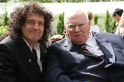 BRIAN MAY AND SIR PATRICK MOORE, Opening day of the Chelsea Flower Show. Royal Hospital Grounds. London. 19 May 2008 *** Local Caption *** -DO NOT ARCHIVE-© Copyright Photograph by Dafydd Jones. 248 Clapham Rd. London SW9 0PZ. Tel 0207 820 0771. www.dafjones.com.