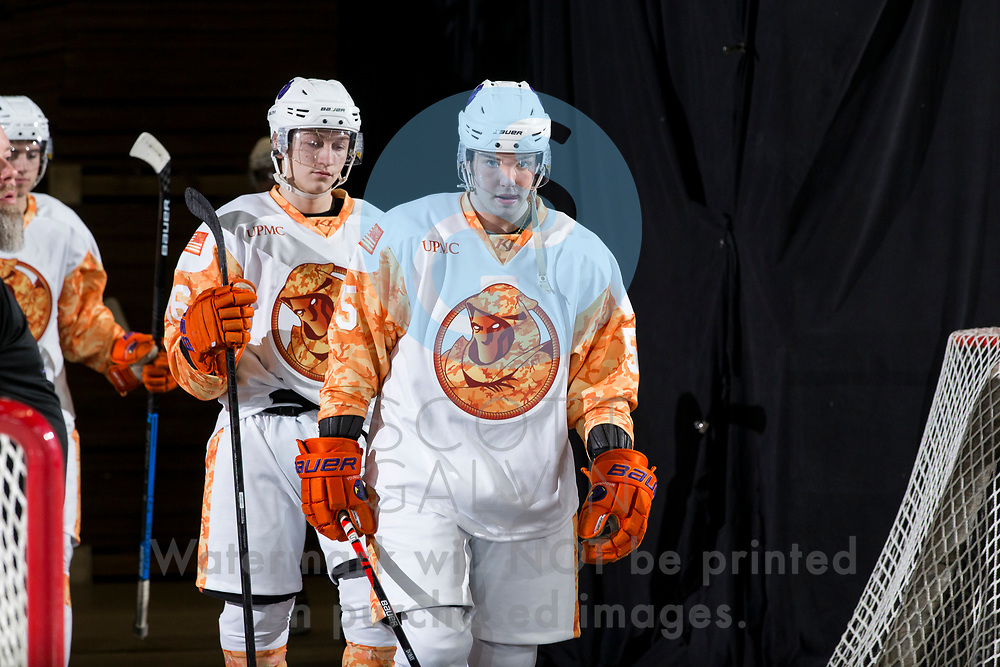 The Youngstown Phantoms defeat the Cedar Rapids RoughRiders 3-1 at the Covelli Centre on March 7, 2020.<br /> <br /> Jayson Dobay, defenseman, 5