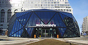 Deluxe Georgian McDonald's<br /> McDonald's group asked Khmaladze Architects imagine a modern design and unique for a chain of restaurants located in Batumi, Georgia. This glass structure highlight's the sign of American fast food chain. <br /> ©exclusivepix