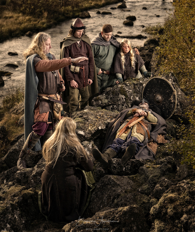 Egils burial at Tjaldanes