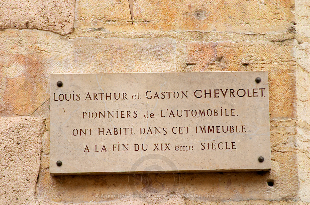 chevrolet founders lived here r maufoux beaune cote de beaune burgundy france