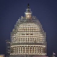 US Capitol photographed 12/11/2014 with scaffolding fully installed.