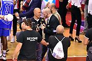 DESCRIZIONE : Campionato 2014/15 Serie A Beko Grissin Bon Reggio Emilia - Dinamo Banco di Sardegna Sassari Finale Playoff Gara7 Scudetto<br /> GIOCATORE : Stefano Sardara Edi Dembinski<br /> CATEGORIA : esultanza postgame<br /> SQUADRA : Banco di Sardegna Sassari<br /> EVENTO : Campionato Lega A 2014-2015<br /> GARA : Grissin Bon Reggio Emilia - Dinamo Banco di Sardegna Sassari Finale Playoff Gara7 Scudetto<br /> DATA : 26/06/2015<br /> SPORT : Pallacanestro<br /> AUTORE : Agenzia Ciamillo-Castoria/GiulioCiamillo<br /> GALLERIA : Lega Basket A 2014-2015<br /> FOTONOTIZIA : Grissin Bon Reggio Emilia - Dinamo Banco di Sardegna Sassari Finale Playoff Gara7 Scudetto<br /> PREDEFINITA :