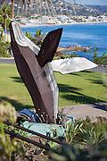 Breaching Whale Sculpture in Laguna Beach California