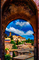 """Ancient arched facade near Santa Chiara in Assisi"" ...<br />