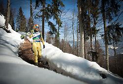 23.03.2013, Planica, Kranjska Gora, SLO, FIS Ski Sprung Weltcup, Skifliegen, Team, 1. Wertungsdurchgang, im Bild Noriaki Kasai (JPN) // Noriaki Kasai of Japan  before his 1st jump of the FIS Skijumping Worldcup Team Flying Hill, Planica, Kranjska Gora, Slovenia on 2013/03/23. EXPA Pictures © 2012, PhotoCredit: EXPA/ Juergen Feichter