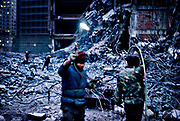 Demolition site in Beijing, China, on friday 18. jan, 2008