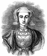 Anne of Cleeves (1515-1557) Protestant German princess, fourth wife of Henry VIII of England, who married her for political reasons but found her unattractive. Marriage annulled after six months. 19th century engraving.
