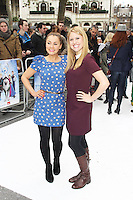 Amy Thompson & Olivia Birchenough, Frozen - VIP Screening, Odeon Leicester Square, London UK, 17 November 2013, Photo by Brett D. Cove