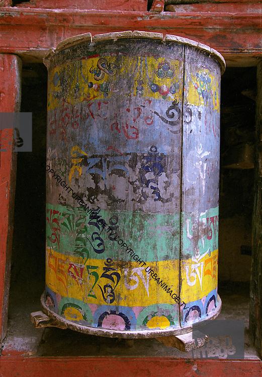 Prayer wheel - temple - Ladakh 2006