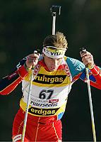 Skiskyting, 11. desmeber 2003, Egil Gjelland, Norge Biathlon Norwegen<br /> Weltcup Hochfilzen 10 km Sprint