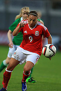 Kayleigh Green of Wales in action.  Friendly International Womens football, Wales Women v Republic of Ireland Women at Rodney Parade in Newport, South Wales on Friday 19th August 2016.<br /> pic by Andrew Orchard, Andrew Orchard sports photography.