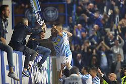 """Foto Filippo Rubin<br /> 07/10/2018 Ferrara (Italia)<br /> Sport Calcio<br /> Spal - Inter - Campionato di calcio Serie A 2018/2019 - Stadio """"Paolo Mazza""""<br /> Nella foto: GOAL SPAL ALBERTO PALOSCHI (SPAL)<br /> <br /> Photo Filippo Rubin<br /> October 07, 2018 Ferrara (Italy)<br /> Sport Soccer<br /> Spal vs Inter - Italian Football Championship League A 2018/2019 - """"Paolo Mazza"""" Stadium <br /> In the pic: GOAL SPAL ALBERTO PALOSCHI (SPAL)"""