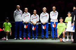 November 10, 2018 - Prague, Czech Republic - Team Czech Republic during the opening ceremony at the 2018 Fed Cup Final between the Czech Republic and the United States of America (Credit Image: © AFP7 via ZUMA Wire)