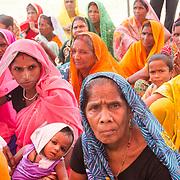 CAPTION: Female self-help group (SHG) members. LOCATION: Diara Rasulpur, Saran District, Bihar, India. INDIVIDUAL(S) PHOTOGRAPHED: Unknown.