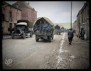 "Colorized photographs soldiers from the World War One<br /> <br /> With his impressive colorized photographs of the World War One, Frédéric Duriez gives us a new look at the conflict that ravaged the world between 1914 and 1918, revealing the difficult daily life of the French soldiers. <br /> <br /> Photo Shows: The village of Souilly is crossed by ""la Voie Sacrée"" , which connects Verdun to Bar-le-Duc Station.<br /> ©Frédéric Duriez/Exclusivepix Media"
