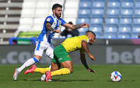 Huddersfield Town's Pipa battles with Norwich City's Onel Hernandez<br /> <br /> Photographer Dave Howarth/CameraSport<br /> <br /> The EFL Sky Bet Championship - Huddersfield Town v Norwich - Saturday September 12th 2020 - The John Smith's Stadium - Huddersfield<br /> <br /> World Copyright © 2020 CameraSport. All rights reserved. 43 Linden Ave. Countesthorpe. Leicester. England. LE8 5PG - Tel: +44 (0) 116 277 4147 - admin@camerasport.com - www.camerasport.com