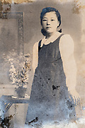 youg adult girl portrait Japan ca 1940s