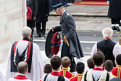 © Licensed to London News Pictures. 12/11/2017. London, UK. THE PRINCE OF WALES attends a Remembrance Day Ceremony at the Cenotaph war memorial in London, United Kingdom, on November 13, 2016 . Thousands of people honour the war dead by gathering at the iconic memorial to lay wreaths and observe two minutes silence. Photo credit: Ray Tang/LNP