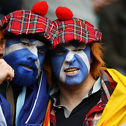 LONDON, ENGLAND - OCTOBER 18: General views of fans during the Rugby World Cup Quarter Final match between Australia v Scotland at Twickenham Stadium on October 18, 2015 in London, England. (Photo by Steve Haag)