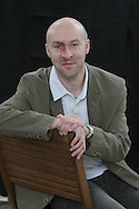 Best-selling Scottish crime writer Christopher Brookmyre pictured at the Edinburgh International Book Festival where he talked about his current work. The Book Festival was the World's largest literary event and featured writers from around the world. The 2006 event featured around 550 writers and ran from 13-28 August.