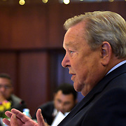 UEFA Executive Committee holds successful Istanbul meeting. Lennart Johansson  during their press conference.<br /> Photo by Aykut AKICI/TurkSporFoto
