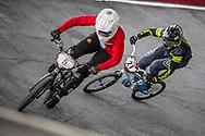 #5 (CHRISTENSEN Simone Tetsche) DEN and #21 (REYNOLDS Lauren) AUS at Round 6 of the 2019 UCI BMX Supercross World Cup in Saint-Quentin-En-Yvelines, France